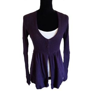 AMERICAN EAGLE OUTFITTERS Purple Three Cardigan